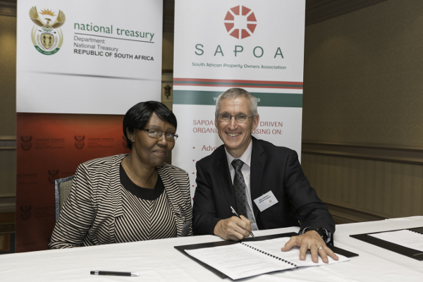 National_Treasury_Malijeng_Ngqaleni_SAPOA_President_Mike_Deighton