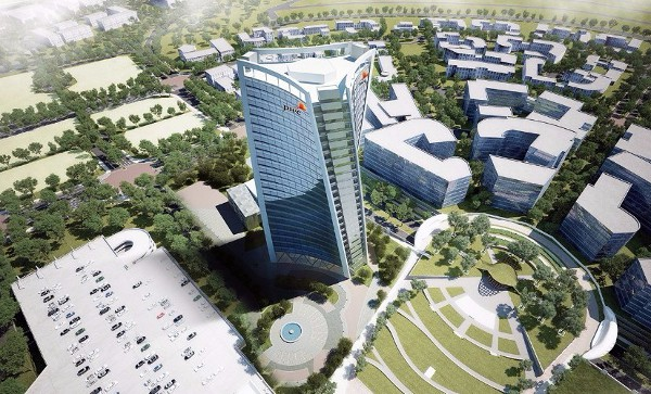 New iconic pwc head office building and first high rise for Office design zimbabwe