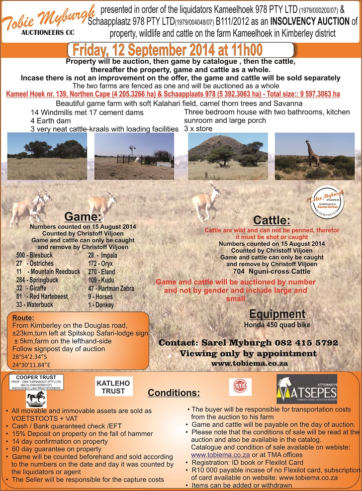 Insolvency Auction Kimberley