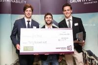 Greenovate winners 2017 Nicholas Tennick Daniel Navarro and Mark McCormick