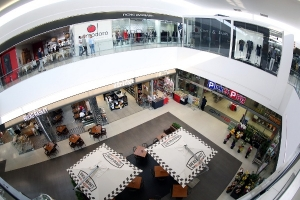 Interior view of Morningside Shopping Centre