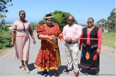 Mzamba access roads have been completed