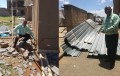 Herman Mashaba assessing the damage of storm hit Soweto